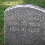 Gravestone of Andrew J. Bucklin