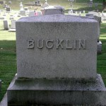 Bucklin Gravestone at Maple Street Cemetery