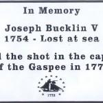 Joseph Bucklin 5th Memorial Marker