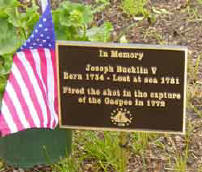 Joseph Bucklin 5th Memorial Marker