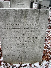 Nancy Bucklin's Gravestone