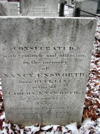 Nancy Bucklin's Gravestone