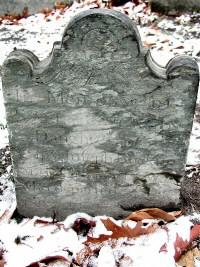 Sally Bucklin's Gravestone