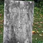 Gravestone of Hepzibah, wife of John Bucklin