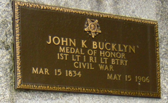 John K. Bucklyn Plaque
