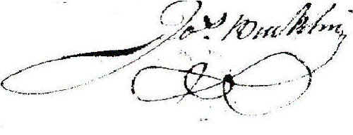 Signature of Joseph Bucklin 4th