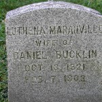 Gravestone of Luthena Maranville, wife of Daniel