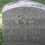 Gravestone of Sylvia Sayles, Daniel F. Bucklin's first wife