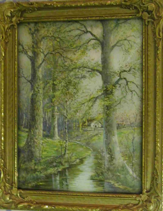 Cottage By The Stream by William Savery Bucklin