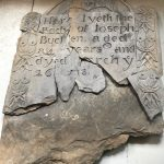 The headstone of Joseph Bucklin (Bucklen) Sr. has fractured.