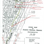 Map of North Burial Ground, Providence, Rhode Island